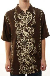 Tommy Bahama Mens SAN CAPRI Hawaiian Print Shirt Brown