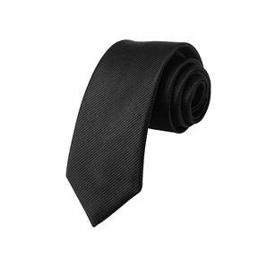 Savile Row Mens Black Skinny Silk Tie Clothing