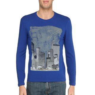 CALVIN KLEIN JEANS T Shirt Homme Bleu royal Bleu royal   Achat / Vente