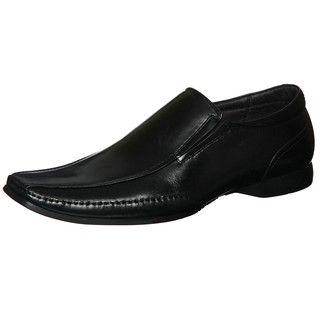 Steve Madden Mens Captrye Black Bike Toe Loafers