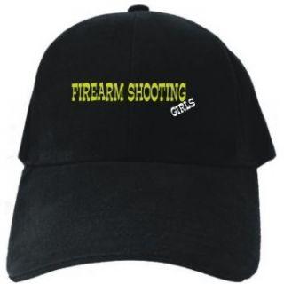 Firearm Shooting GIRLS Black Baseball Cap Unisex Clothing