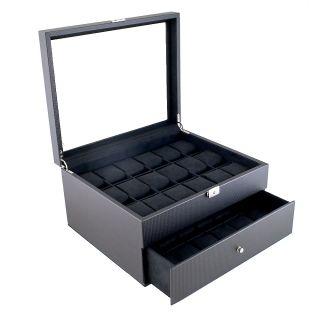 Fiber Pattern Dual layer High Clearance 36 watch Case