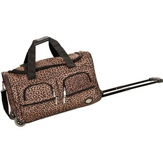 Rockland Deluxe 22 inch Leopard Carry on Rolling Duffle Bag