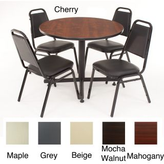 Regency Seating 36 inch Round Table with 4 Chairs