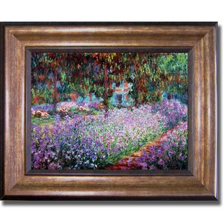 Claude Monet Artists Garden at Giverny Framed Canvas Art