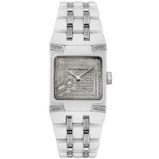 Technomarine Womens Black Snow Mini White Ceramic Diamond Watch