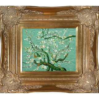 Van Gogh Branches of Almond Tree Hand painted Framed Canvas Art