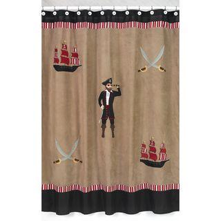 Treasure Cove Pirate Kids Shower Curtain