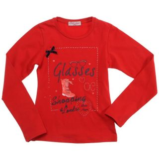 FREE STAR Tee shirt Manches Longues Fille Rouge   Achat / Vente T