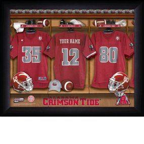 Alabama Crimson Tide Personalized Locker Room Print