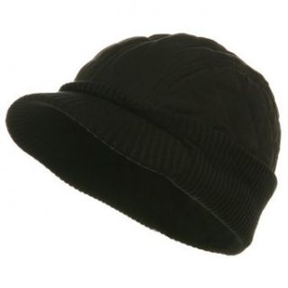 Winter Quilted Cap Black W28S61C Clothing