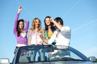 Friends in car  Foto Stock © Иван Михайлов #6850165