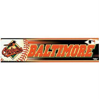 Baltimore Orioles   Logo & Name Bumper Sticker MLB Pro