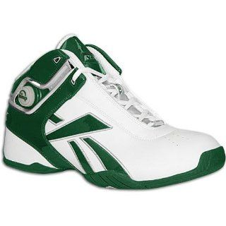 Reebok Mens Unanimous Mid ( sz. 07.5, White/Forest Green ) Shoes