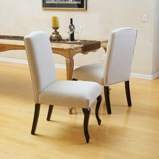 Christopher Knight Home Crown Top Beige Dining Chairs (Set of 2