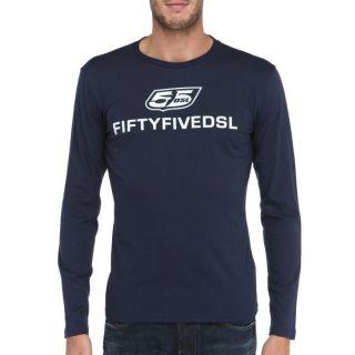 55DSL T Shirt Two Homme Bleu et blanc   Achat / Vente T SHIRT 55DSL T