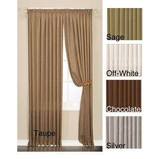 Luster Crushed Faux Silk 95 inch Window Panel Pair