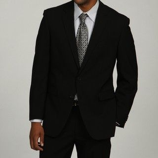Kenneth Cole Mens Slim Fit Black Suit