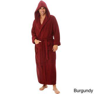 Alexander Del Rossa Mens Terry Cotton Hooded Bath Robe