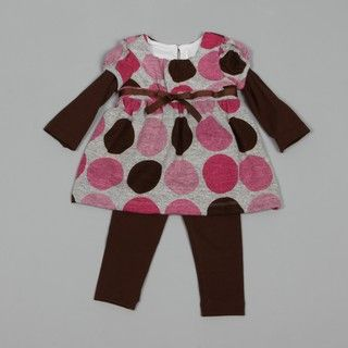 Rare Editions Infant Girls Polka dot Dress and Leggings Set FINAL