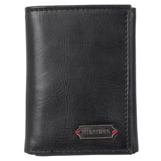 Tommy Hilfiger Mens Genuine Leather Passcase Tri fold Wallet