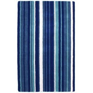Hand tufted Blue Cosmo Wool Rug (4 x 6)