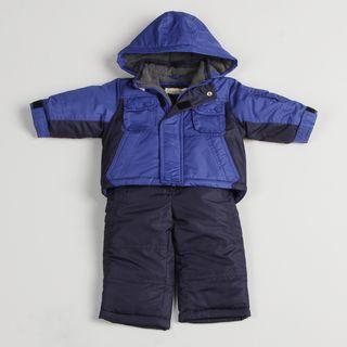 Osh Kosh Infant Boys Color Blocked Blue Snow Suit