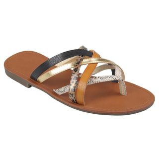 Journee Collection Womens Cable 21 Strappy Thong Sandals