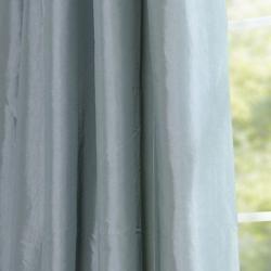Sea Green Faux Silk Taffeta 96 inch Curtain Panel
