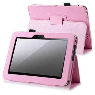 BasAcc Pink Leather Case with Stand for  Kindle Fire HD 7 inch
