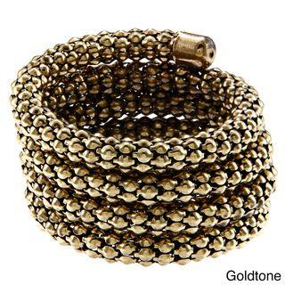 La Preciosa Brass Hollow Popcorn Coil Wrap Bracelet