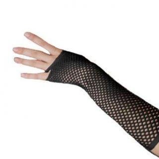 Black Long & Stretchy Fishnet Arm Warmers Clothing