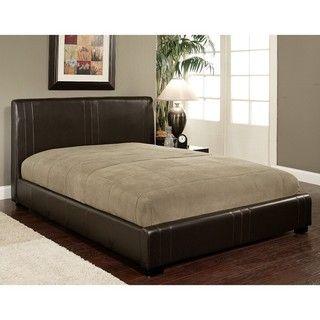 Abbyson Living Malibu Dark Brown Bi cast Leather Full size Bed