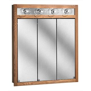 Bostonian Series Lighted Tri view 30 inch Medicine Cabinet