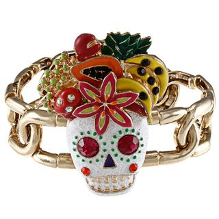 Betsey Johnson Skull Fruit Full Stretch Bracelet