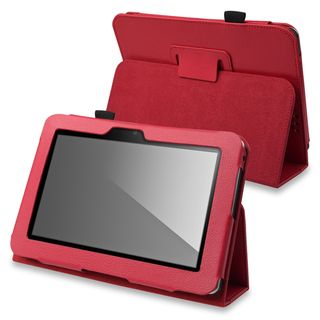 BasAcc Red Leather Case with Stand for  Kindle Fire HD 7 inch