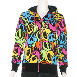 Iron Fist 99 Dead Balloons Womens Zip Hooded Sweatshirt