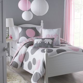 Big Believers Pink Parade 3 piece Full size Comforter Set