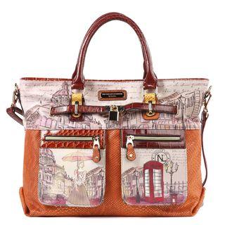 Nicole Lee Claire Blocked Euro print Shoulder Bag