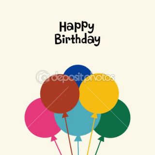 Balloon birthday card design  Stock Vector © jinru huang #2241519