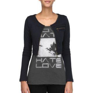 Coloris : marine. Veste 55 DSL Femme, 100 % coton, courte, encolure