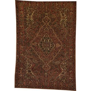 Persian Hand knotted Baktiari Red/ Ivory Wool Rug (610 x 101
