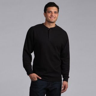 Farmall IH Mens Big and Tall Black Thermal Henley