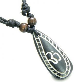 Amulet Original Tibetan OM Tear Drop Tag Prayer Natural