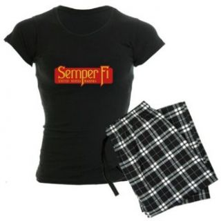 Artsmith, Inc. Womens Dark Pajamas Semper Fi Marine Corps