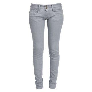 Coloris  gris. Jean MET Femme, 98 % coton, 2 % élasthanne, taille