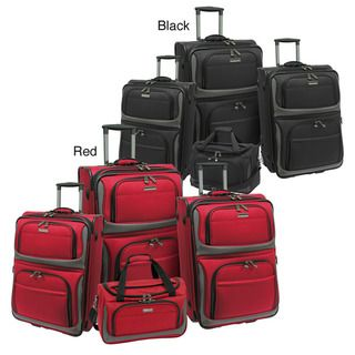 Travelers Choice Rugged Supreme 4 piece Expandable Luggage Set