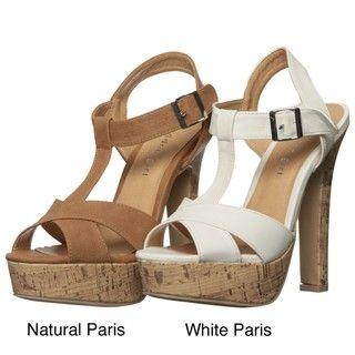 Madden Girl by Steve Madden Womens Marnia Platform T strap Sandals