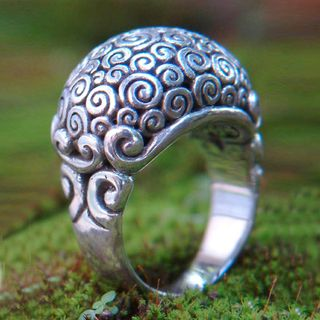 Sterling Silver Cloud Bubble Ring (Indonesia)
