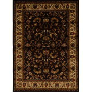 Contemporary Brown Heat Set Rug (78 x 104)